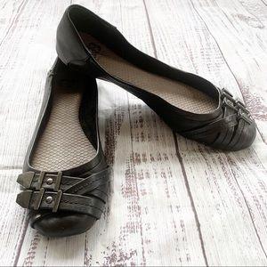Gianni Bini Double Buckle Ballet Flats